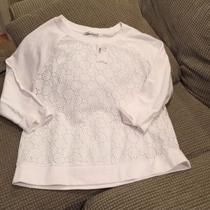 Revolution white eyelet top